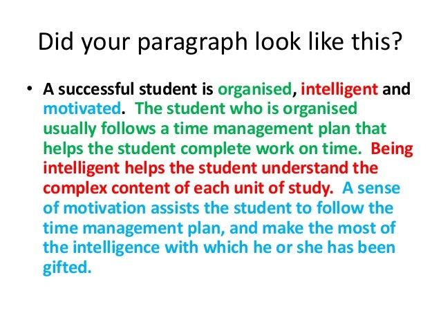 Sucessful student essay