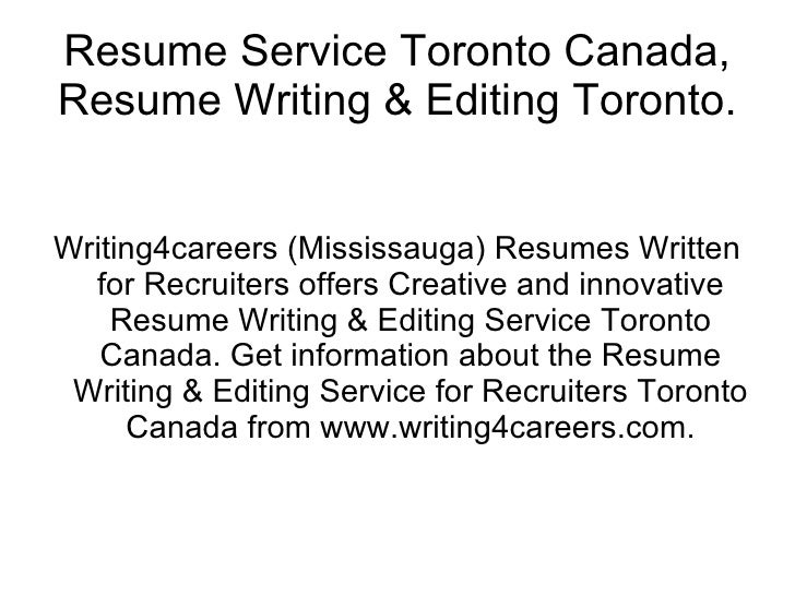 Writing services toronto