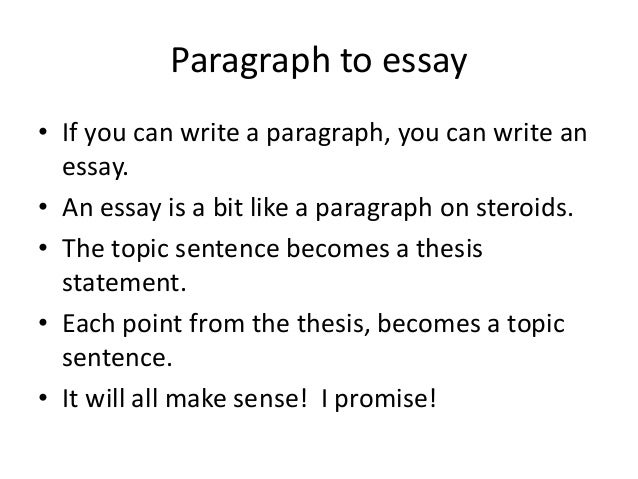 Writing 4 paragraph to essay