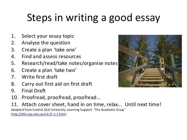 steps to be followed when writing an academic essay