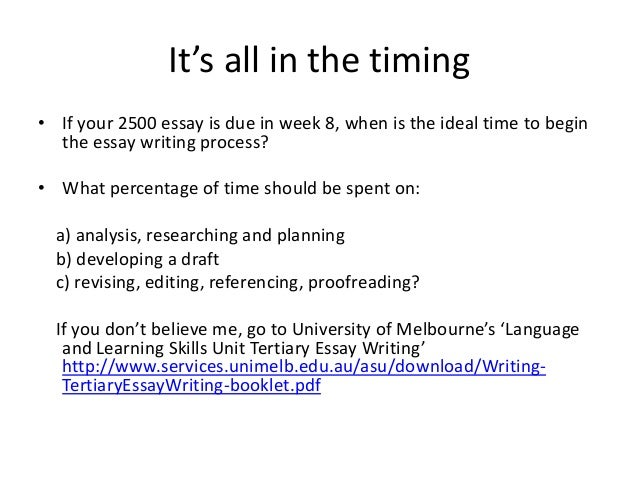 Unimelb Ssps Essay Writing Guide