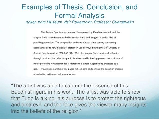 art analysis template