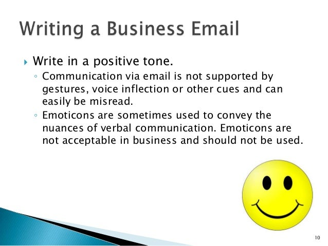 writing a business email