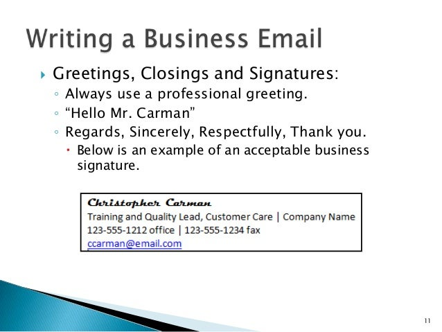 Writing a business email 10 11 greetings m4hsunfo
