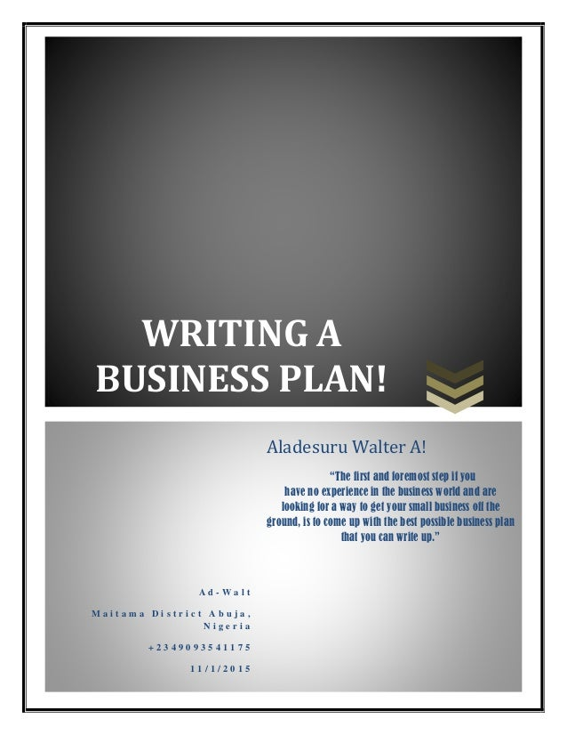 ... Business Plan Sample will help you write your business plan in the