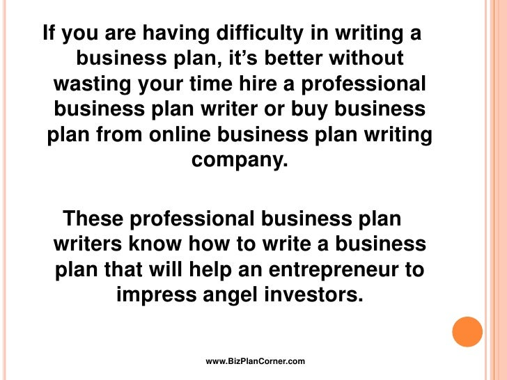 hire a business plan writer needed