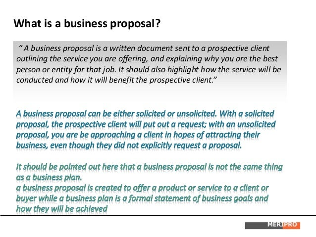 writing a business proposal a step by step approach