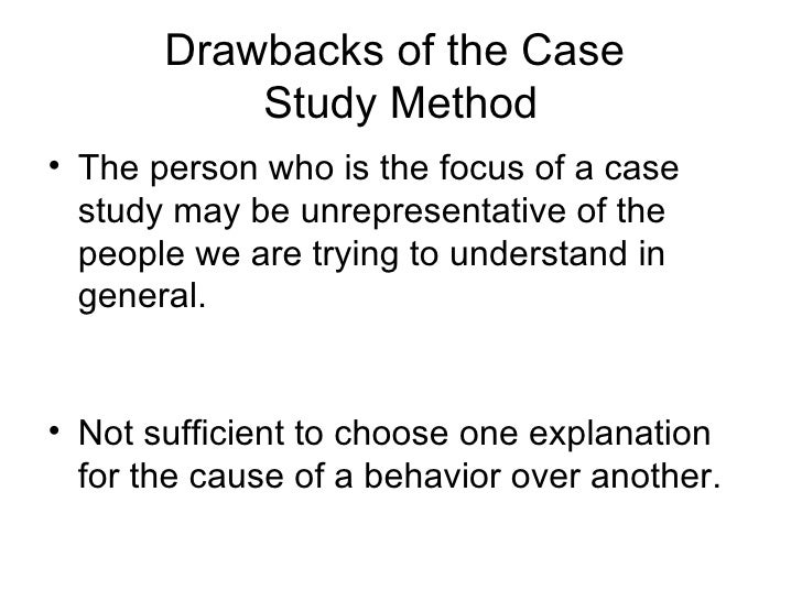 what are the benefits and drawbacks of case study research