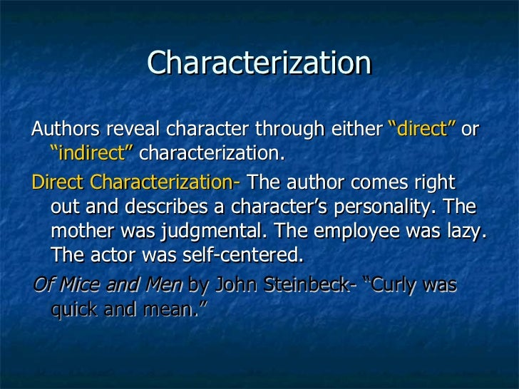 characterization - Writing A Character Analysis Essay