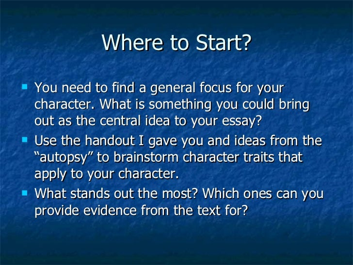 writing a character analysis essay 8