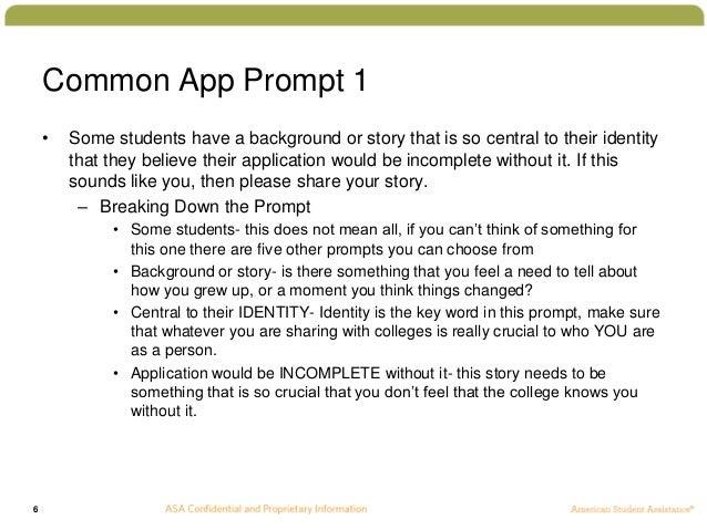 examples of college essay topics