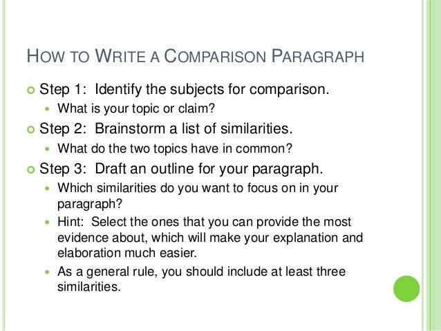 writing a comparative essay