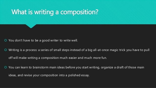 how to write a composition for primary school