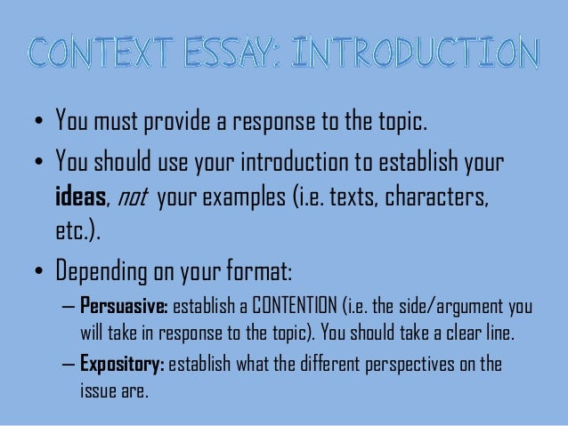 what is context in writing an essay