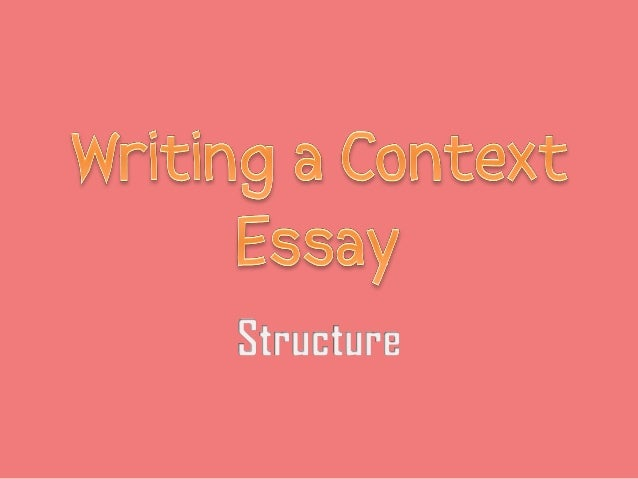 context writing essay Sample literary context essay for creative writing thesis projects (fiction) fairy tales are an integral part of american culture from grimm's fairy tales—what most people consider the.