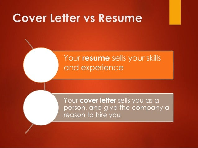 cover letter vs resume