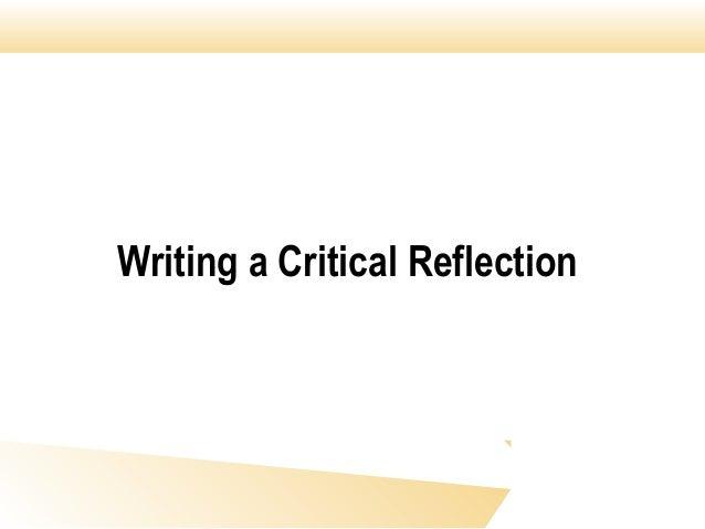 Writing a Critical Reflection