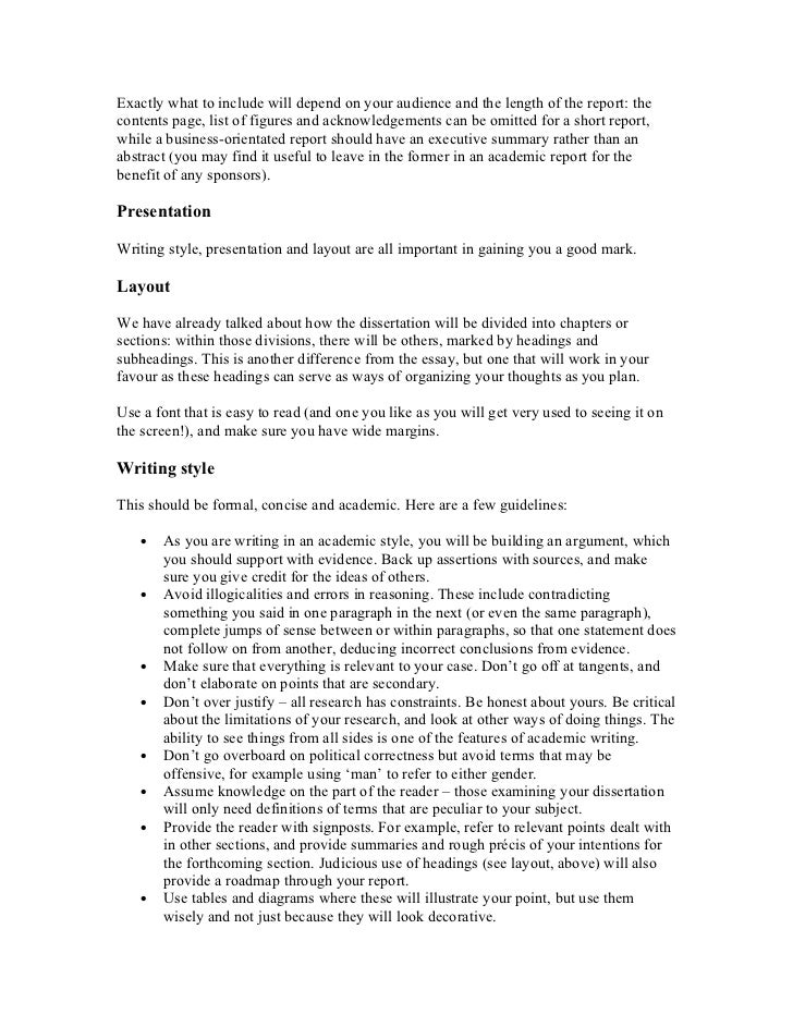 Help with dissertation writing block