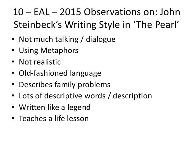 an analysis of the concept of evil in the pearl by john steinbeck