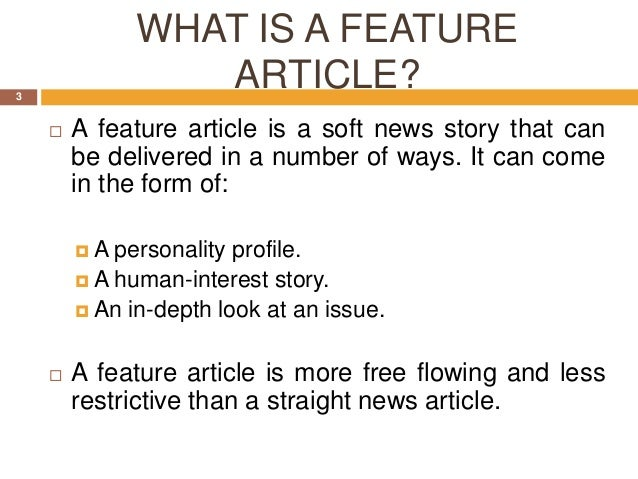 Writing a magazine feature article template
