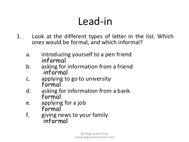 Writing a formal letter of application job paper 2 part 2 – Letter of Application