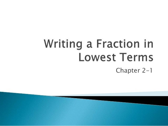 how to write a ratio in lowest terms