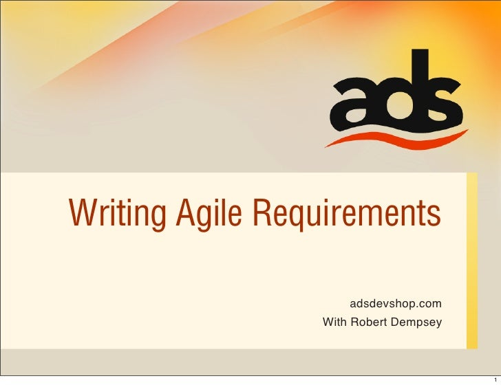 Writing agile requirements for Agile requirements gathering template