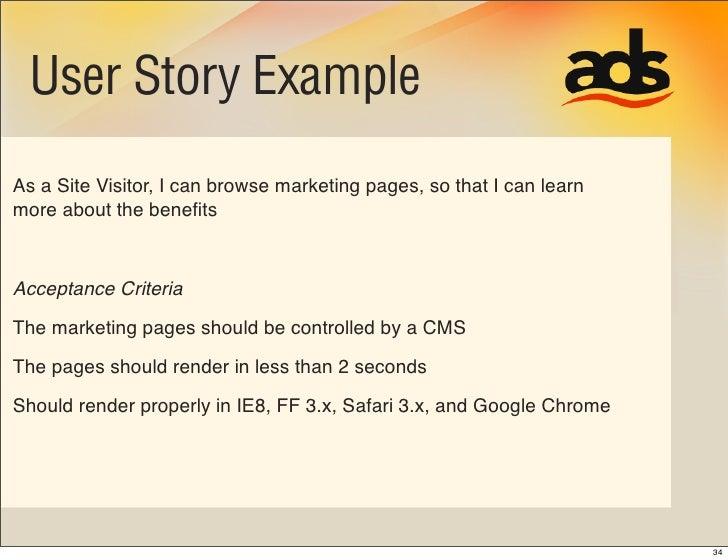 User Story Acceptance Criteria Template Roho4senses