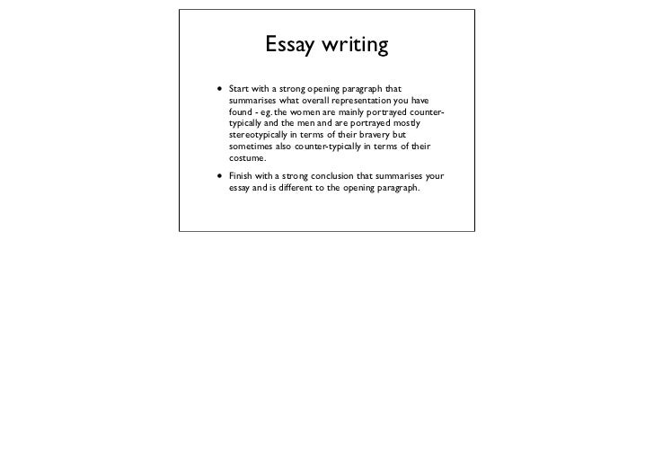 essay writing tips for as tv drama essay writing• start