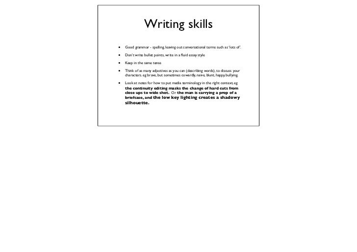essay writing tips for as tv drama writing