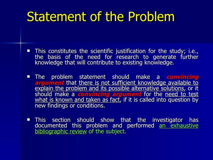 thesis proposal problem statement example