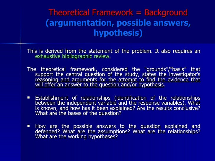 research proposal theoretical framework example