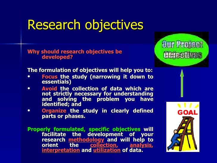 identifying research objectives