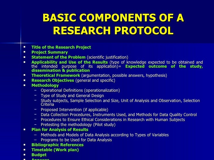 Components of a good research report