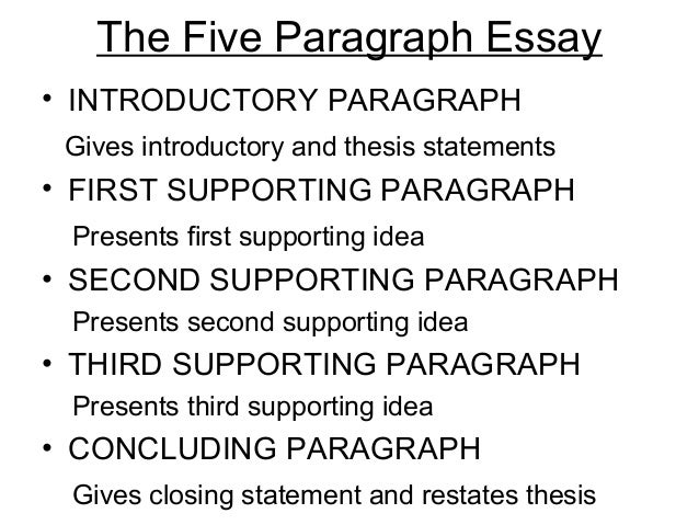writing a high scoring exam essay or composition  9 the five paragraph essay