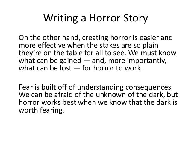 elements of writing a scary story