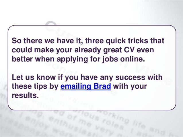 writing a killer cv for the digital age