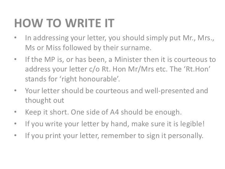 write to mp