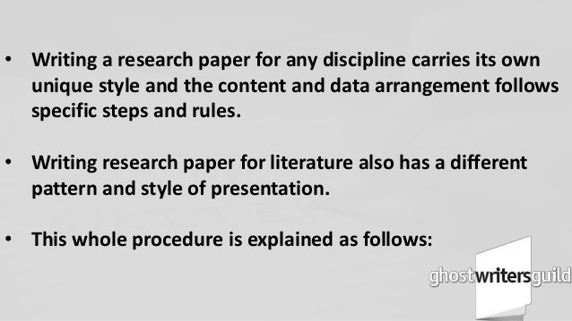 research paper pattern