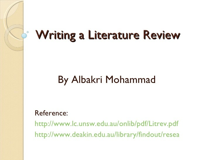 Literature Reviews in a Nutshell
