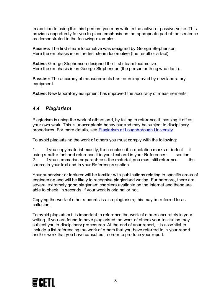 literature review report example