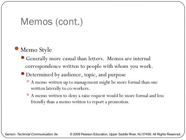 Writing a memo, letter, and e mail