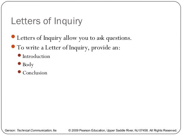 Letter Of Inquiry Reply Of Inquiry Letter What Is An Inquiry