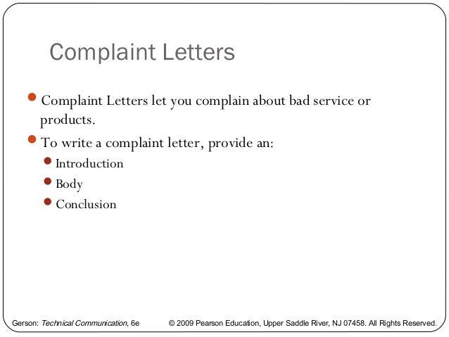 Writing A Memo Letter And E Mail Options 35. Complaint Letter Samples  Complaint Format Letter