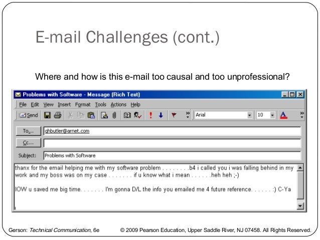 email memo example