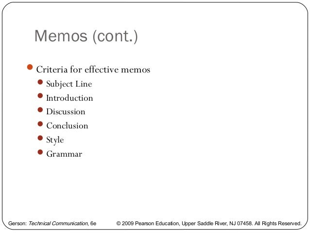 examples of memo letters
