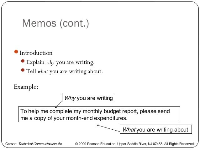 how to write an engineering memo