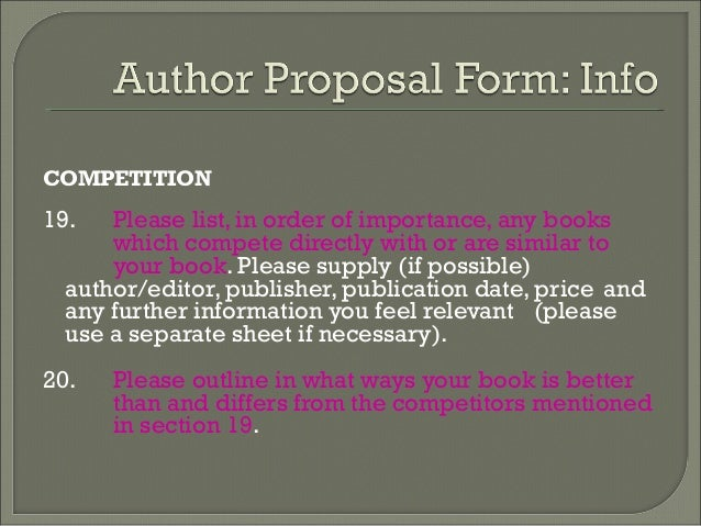 Academic proposal writing - Professional Research Proposal