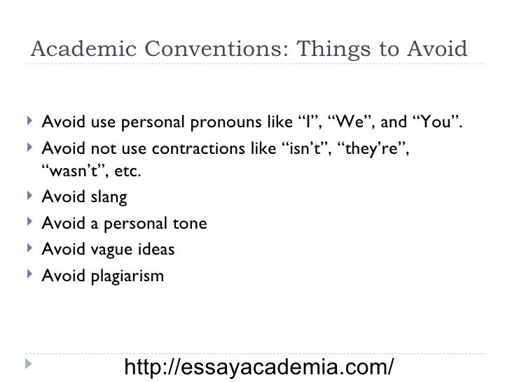 how to avoid conversational tone in writing
