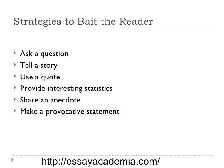 anecdote example in essay